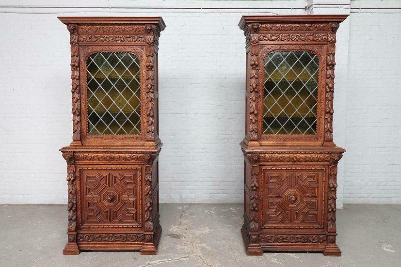 Caved Oak Hunt Cabinets
