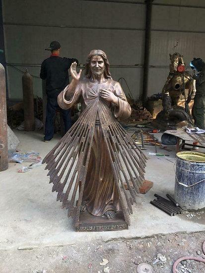 Bronze Jesus the King Statue