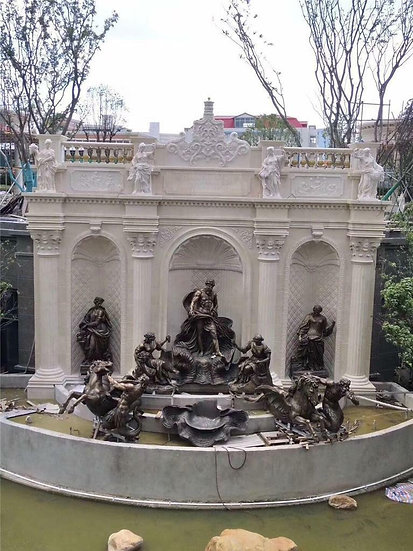 Bronze Monumental  Roman Style Fountain