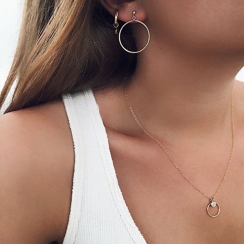Minimalist Round Earrings