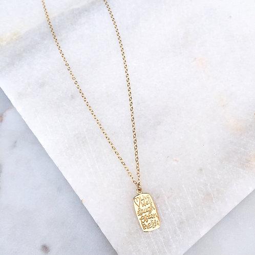 Script Charm Necklace