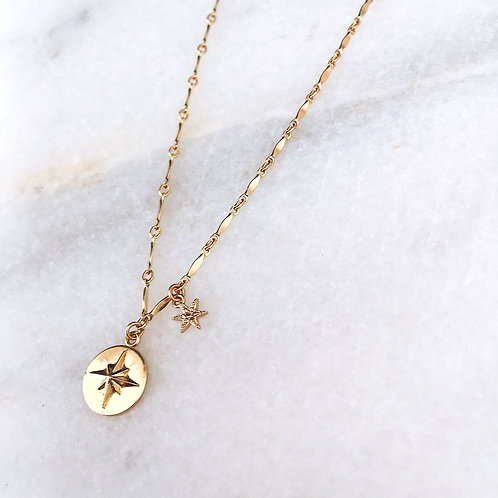 Baby Double Star Necklace