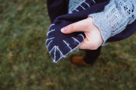 Dochart Rock & River - Blanket Stitch