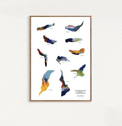 Trossachs Lochs Print