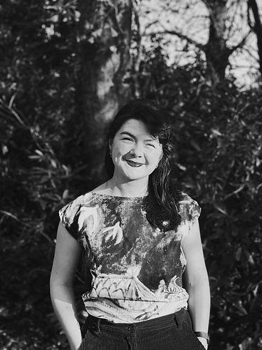 Portrait of Orla Stevens, a Contemporary Landscape Painter & Artist.