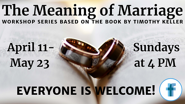 The Meaning of Marriage Workshop Announc