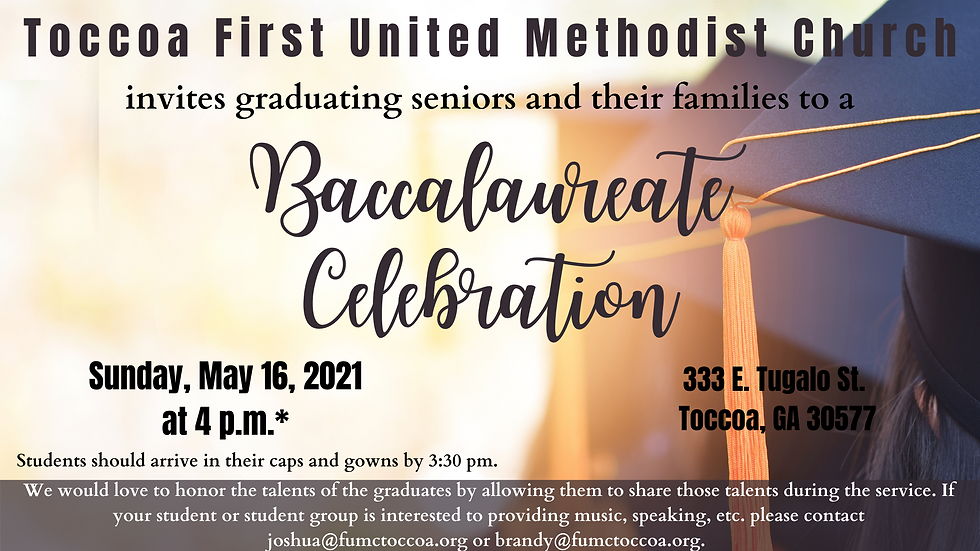 Baccalaureate Notice Announcement.png