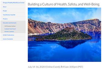 OHSU healthy workforce conference 2020.P