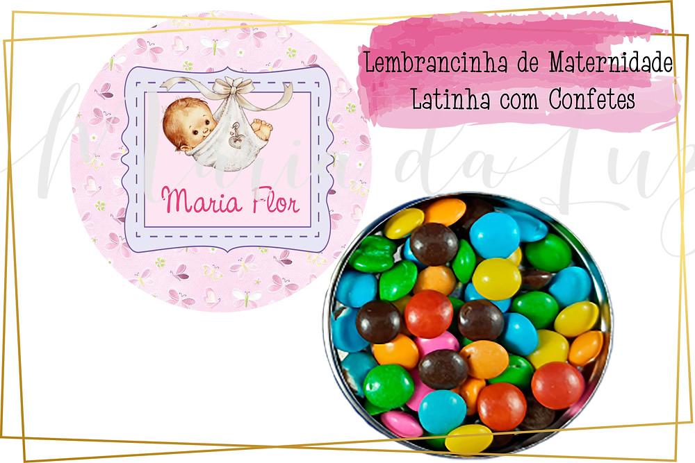 lembrancinha maternidade na latinha