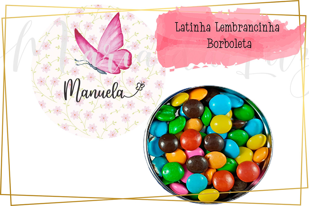 latinha lembrancinha borboletas