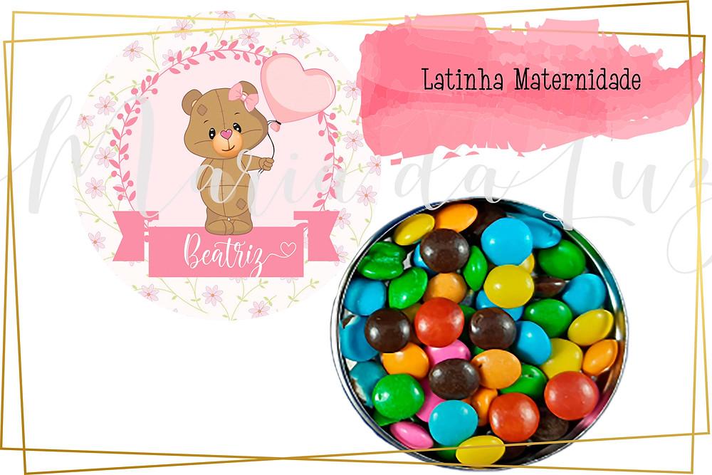 Latinha Maternidade personalizada