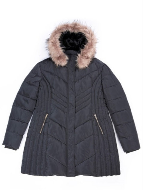 Puff Hooded Plus Size Coat