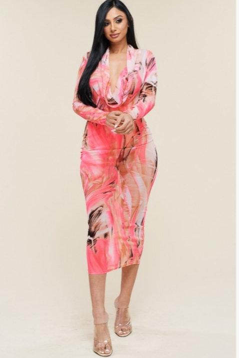 Multi Color Midi Dress
