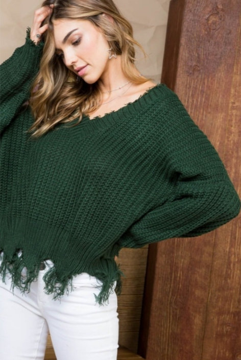 Moss Green Sweater