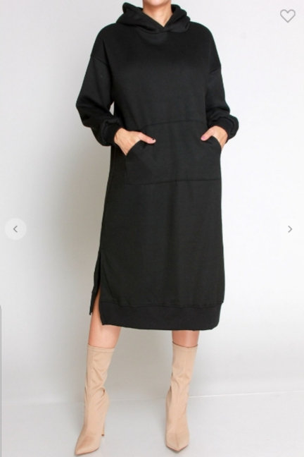 Black Hoodie Dress