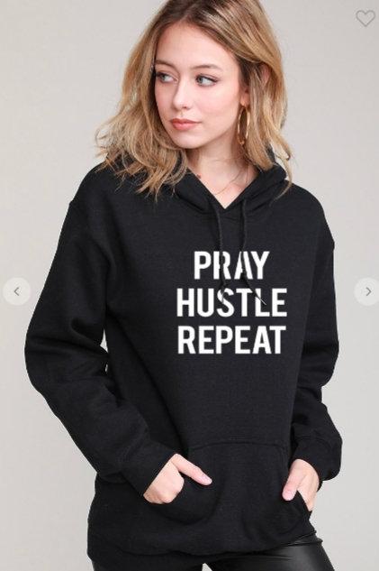 Hoodie PRAY HUSTLE REPEAT