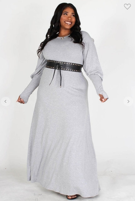 Maxi Dress with Puff Sleeves