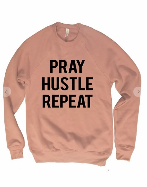 Sweatshirt PRAY HUSTLE REPEAT