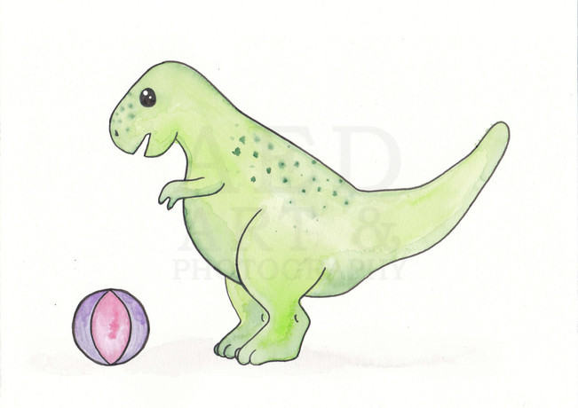 T Rex with Ball