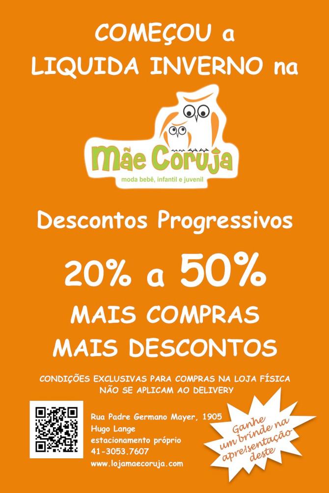 LIQUIDA INVERNO MÃE CORUJA - Até 50% de desconto