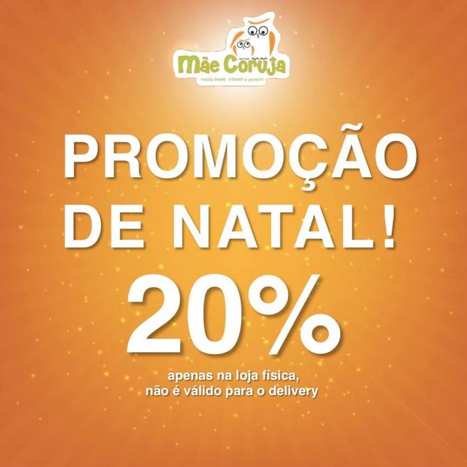 Natal com 20% de desconto + Prêmios