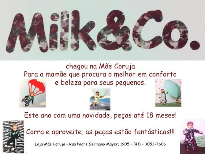 Chegou Milk & Co. na Mãe Coruja