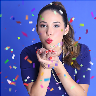 Cover image of Cathy with confetti