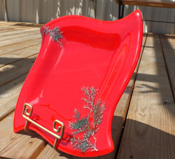 Red Christmas Plate