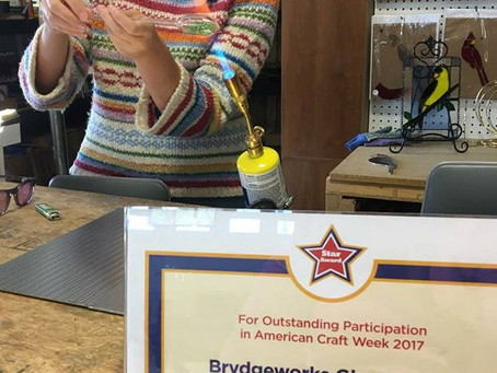 BrydgeWorks Glass an American Craft Week Award Winner