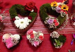 """5"""" & 10"""" Flower Hearts"""