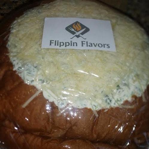 Spinach Dip Bread Bowl