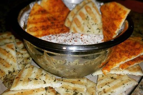 Smoked Salmon Spread and Grilled Garlic Butter Pita Bread