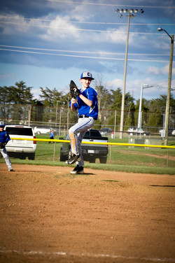 Trevor with the windup