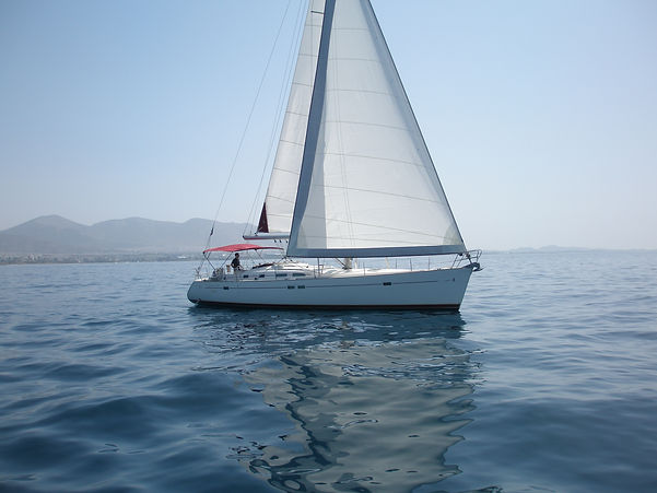 Sailing holidays in Greece with Greek Yachts sailing boat Beneteau Oceanis 473  based in marina Alimos