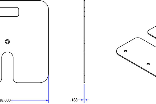 """Plaque carrée 18"""" x 18"""" x 3/16"""""""