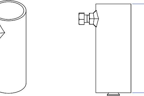 """Bouteille pour tubes 1,90"""" et 2"""" x6"""""""