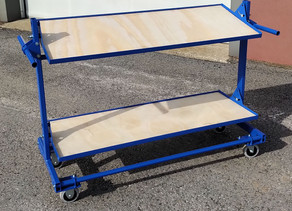 """Chariot jumelable avec tablettes inclinables 18""""x48"""""""