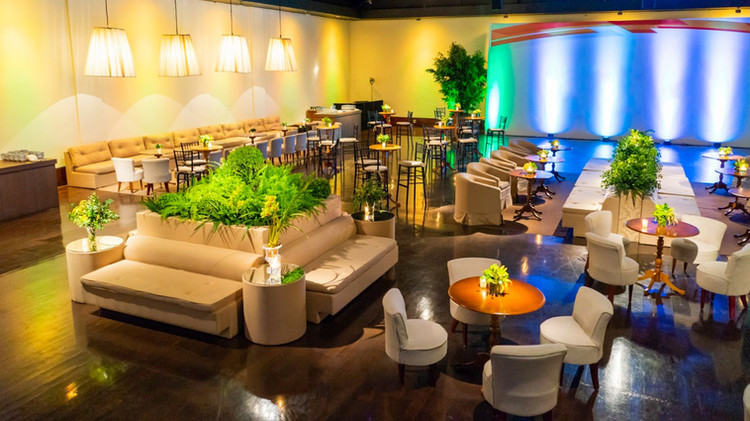 Lounge com ilha central