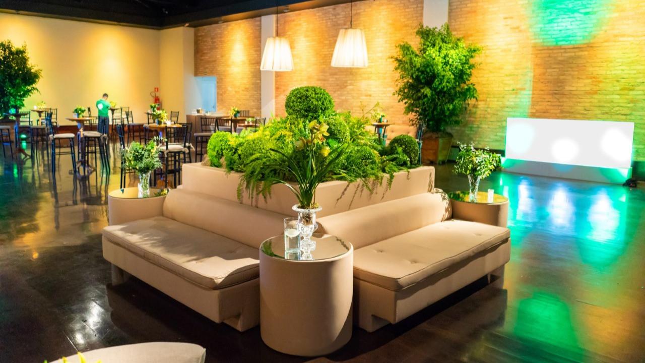 Lounge com ilha