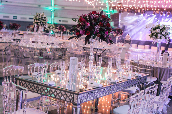 Mesa de convidados retangulares