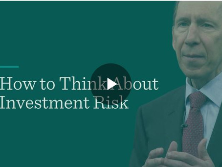 How to Think About Investment Risk