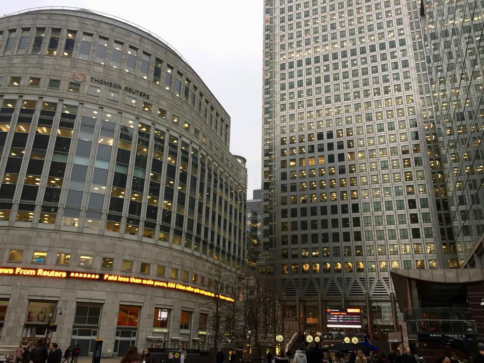 Canary Wharf in London (런던의 카나리 워프 | ロンドンのカナリー・ワーフ)