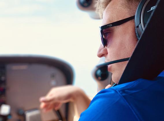 A pilot giving instruction