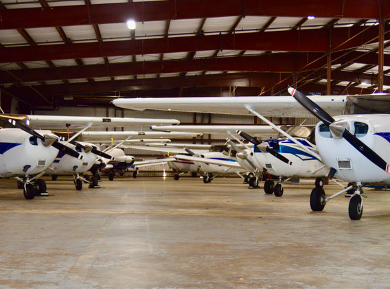 Airplanes in the hangar