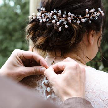 Bridal hair North Yorkshire © Rosanna Li