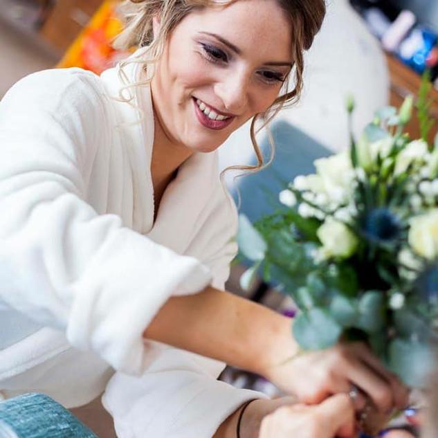 Beautiful bridesmaid make up