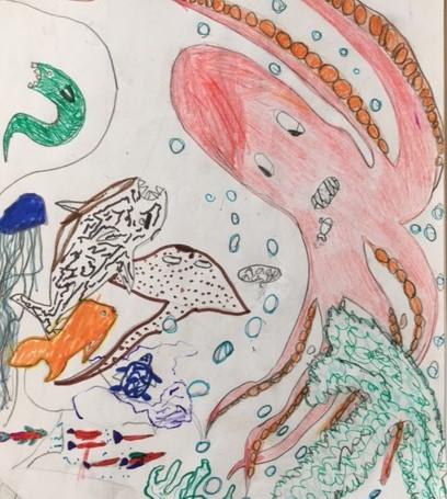 Sea World : Original Kinderzeichung