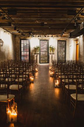 Lindsey & Juan Chicory - Ceremony Aisle