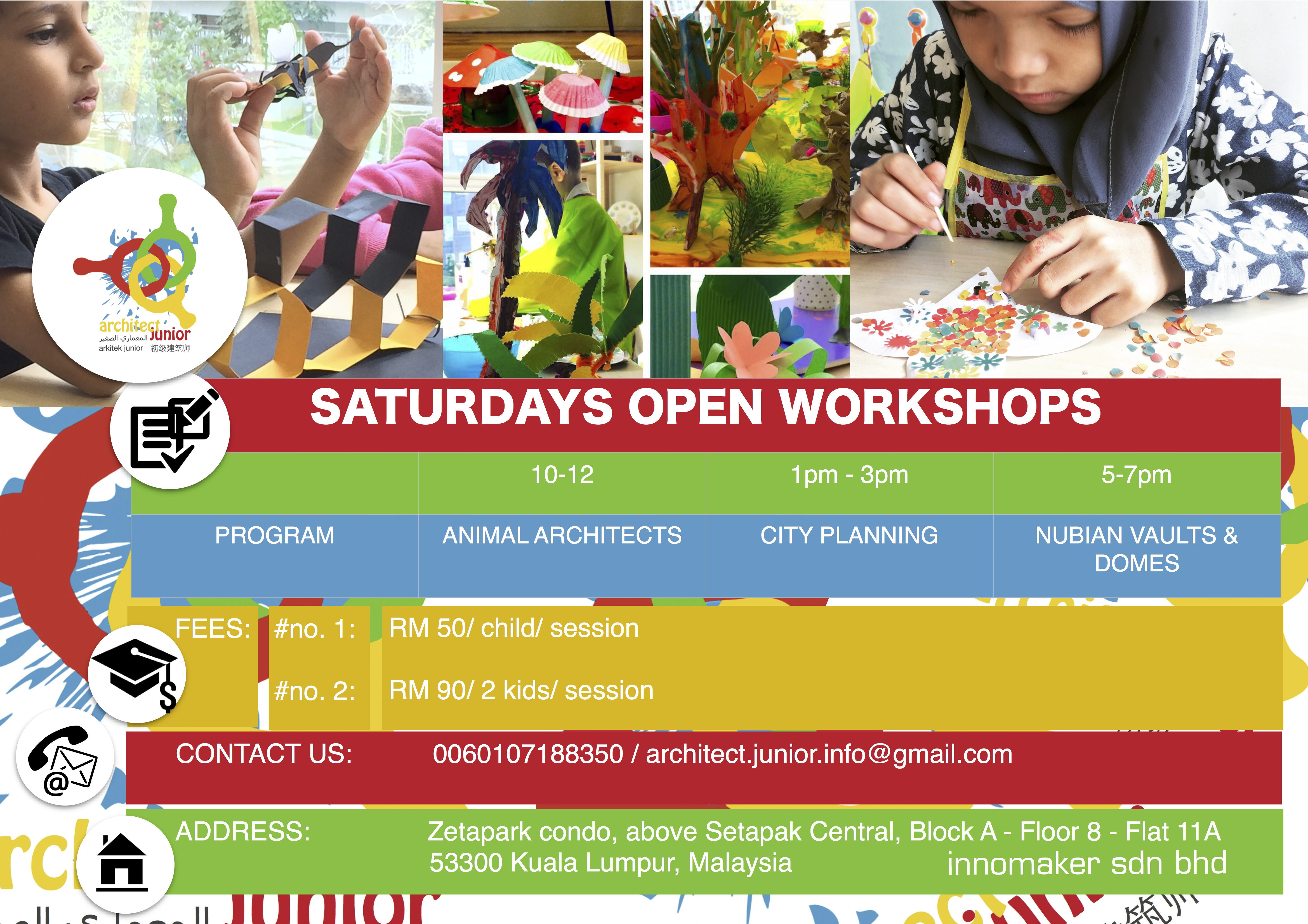 Saturday open workshops