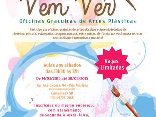Projeto Vem Ver: aulas gratuitas de trabalhos manuais em Campinas!